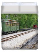 Railway Station With Old Wagons And Train Duvet Cover