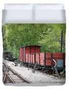 Railway Station With Old Wagons Duvet Cover