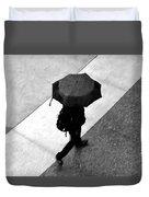 Running In The Rain Duvet Cover