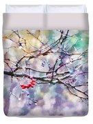 Rain Berries Duvet Cover