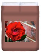 Rain Covered Red Rose Duvet Cover
