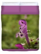 Rain Drop Olympics On Dead Nettle Flower Duvet Cover
