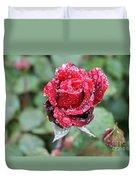 Rain Drop Rose Duvet Cover