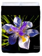 Rain Flower Morning Duvet Cover