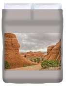 Rain In The Distance At Arches Duvet Cover