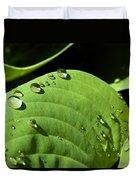 Rain On Leaf Duvet Cover