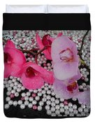 Rain On Orchids Duvet Cover