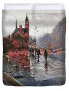 Rain On Sixth Avenue Duvet Cover