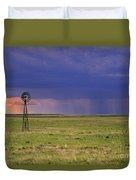 Rain On The Plains Duvet Cover