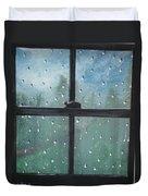 Rain On The Window Duvet Cover