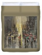 Rain On Wisconsin Avenue Duvet Cover