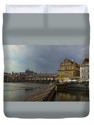 Rain Over Prague Duvet Cover
