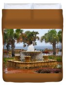 Rain Soaked Fountain Duvet Cover