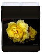 Rain Soaked Yellow Rose Duvet Cover