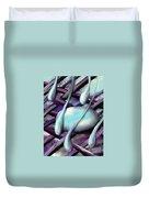 Life On Purple Plaid Duvet Cover