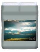 Rainbow Above Lake Manasarovar Kailash Yantra.lv Duvet Cover