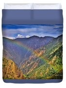 Rainbow Across Canyon Duvet Cover