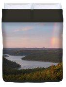 Rainbow At Broken Bow Lake Duvet Cover