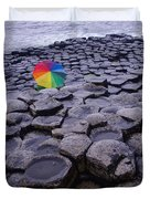 Rainbow At Giant's Causeway Duvet Cover