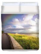 Rainbow At  Seaside Duvet Cover