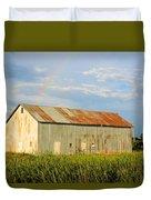 Rainbow Barn Duvet Cover