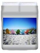 Rainbow Beach Vanilla Pop Duvet Cover