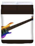 Rainbow Big Neck Bass Guitar Duvet Cover