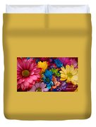 Rainbow Bouquet Duvet Cover