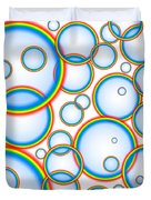 Rainbow Bubbles Duvet Cover
