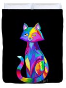 Rainbow Cat Duvet Cover