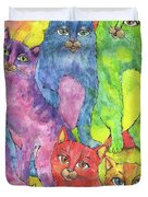 Rainbow Cats 2017 07 01 Duvet Cover