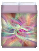 Rainbow Colored Abstract. Concept Divine Virtues Duvet Cover