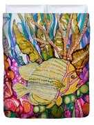 Rainbow-colored Sunfish Duvet Cover