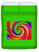 Rainbow Coloured Cock Swirl H A Duvet Cover