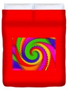 Rainbow Coloured Cock Swirl H B Duvet Cover