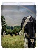 Rainbow Cow Duvet Cover