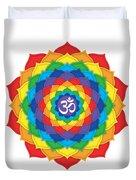 Rainbow - Crown Chakra  Duvet Cover