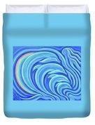 Rainbow Dolphins Duvet Cover
