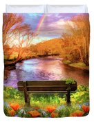 Rainbow Dreams Abstract Duvet Cover