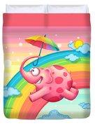 Rainbow Elephants Duvet Cover by Tooshtoosh