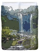 Rainbow Falls Green Duvet Cover