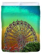 Rainbow Ferris Wheel Duvet Cover