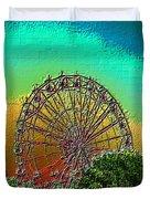 Rainbow Ferris Wheel Duvet Cover