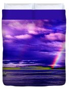 Rainbow Ferry Duvet Cover