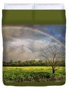 Rainbow Field Duvet Cover