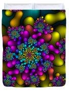 Rainbow Fireworks Fractal Duvet Cover