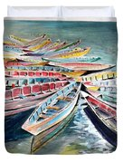 Rainbow Flotilla Duvet Cover