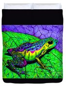 Rainbow Frog 2 Duvet Cover