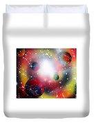Rainbow Galaxy Duvet Cover