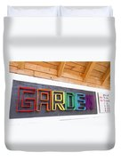 Rainbow Garden Sign One Duvet Cover